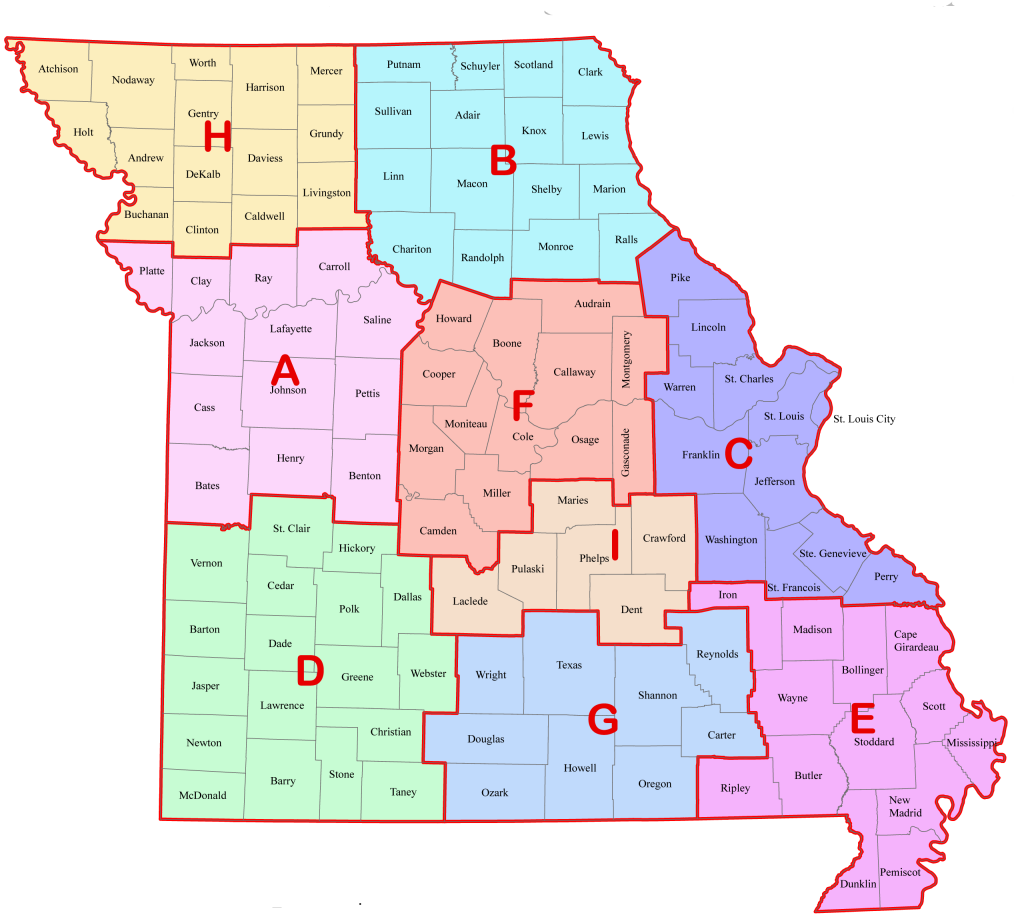 missouri map with troop areas2
